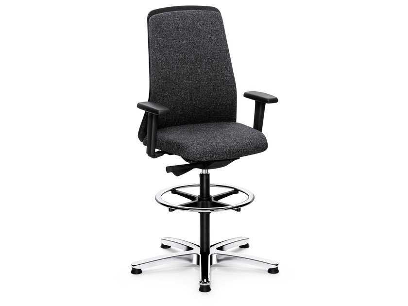Ergonomic swivel fabric task chair EVERY IS1 196E by Interstuhl