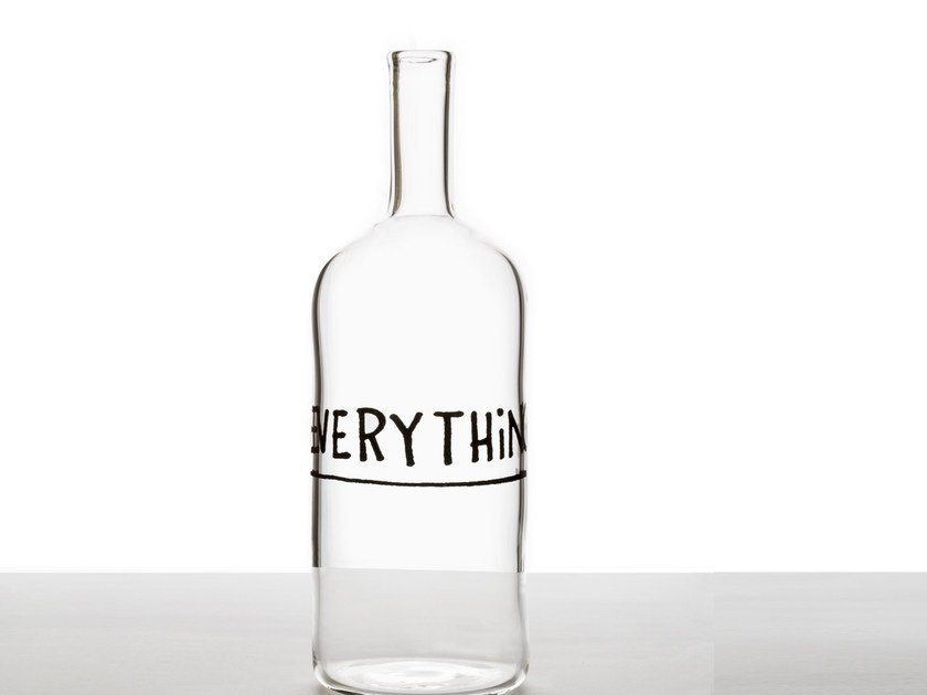 Glass bottle EVERYTHING by Secondome Edizioni