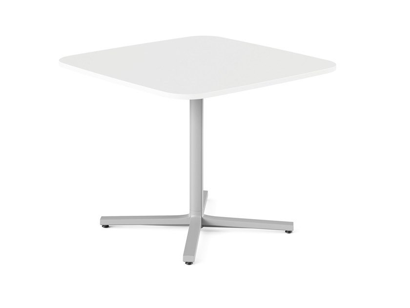 Square table with 4-star base EVERYWHERE | Square table by Herman Miller