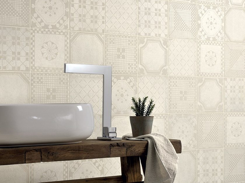 Porcelain stoneware wall/floor tiles with concrete effect EVOKE Evoke