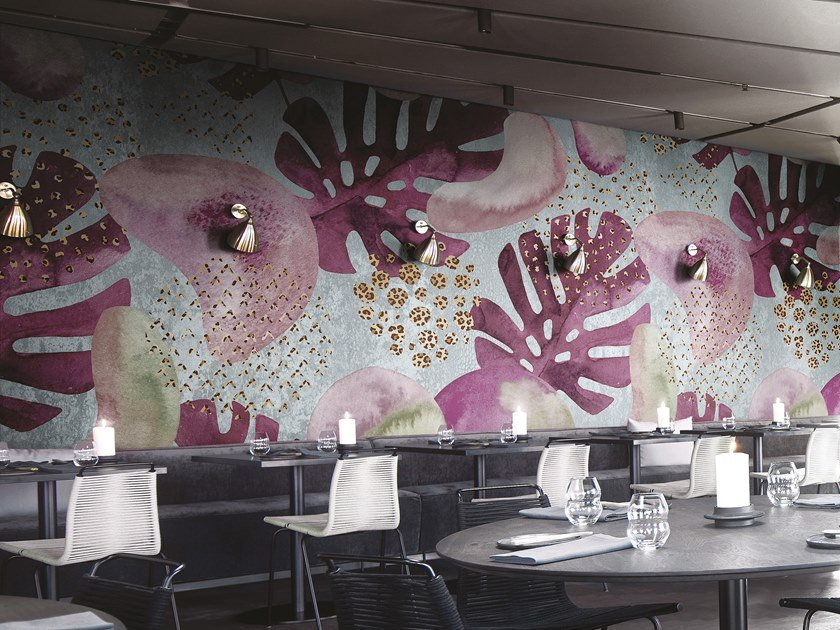 Panoramic wallpaper with floral pattern EVOLUTION by Inkiostro Bianco