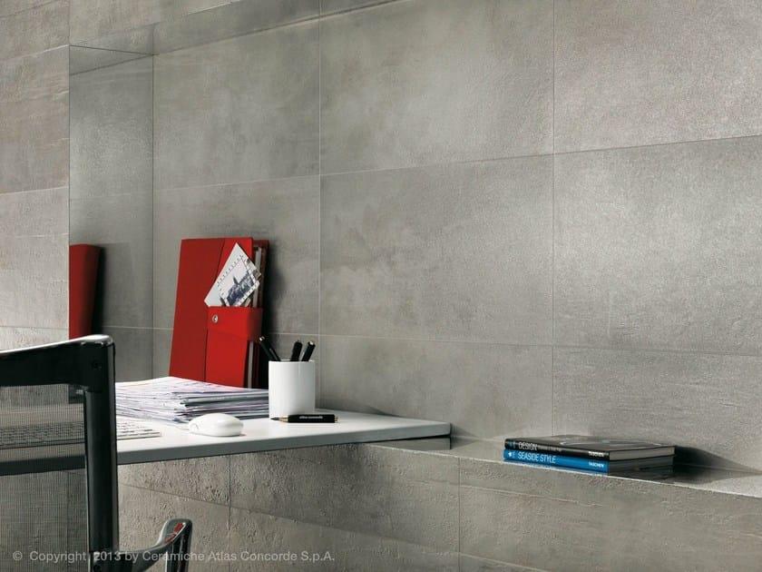 Porcelain stoneware wall tiles with concrete effect EVOLVE | Porcelain stoneware wall tiles by Atlas Concorde