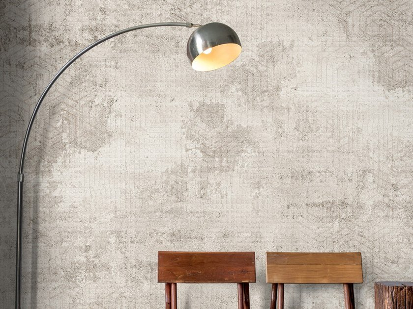 Industrial style Ecological washable PVC free wallpaper EXAGON by Wallpepper