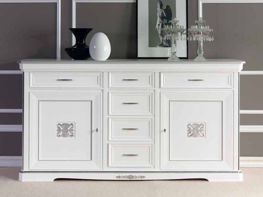 Solid wood sideboard with doors EXCLUSIVE | Lacquered sideboard by Arvestyle