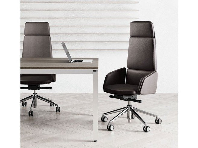 High-back executive chair with armrests LEAD | Executive chair by Las Mobili