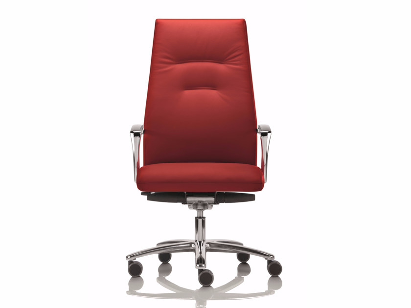 High-back executive chair with 5-spoke base with armrests YOUSTER | Executive chair by Luxy