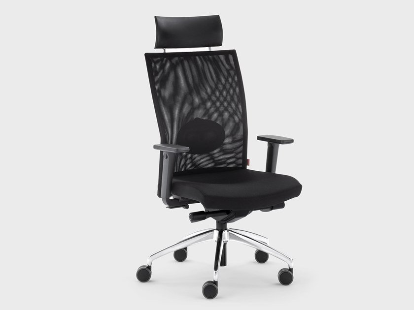 Recliner fabric executive chair with armrests QUEEN MESH | Executive chair by Viganò