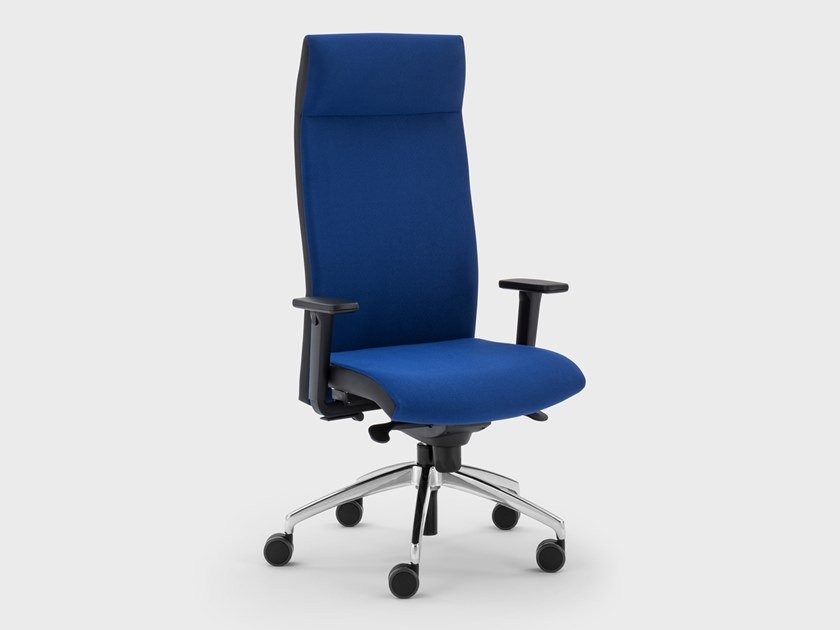 Recliner trestle-based fabric executive chair LOGIKA | Executive chair by Viganò