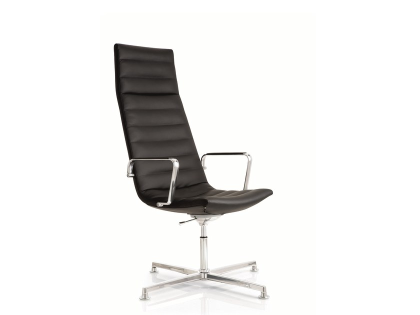 Swivel task chair with 4-Spoke base with armrests KEY | Task chair with 4-Spoke base by Emmegi