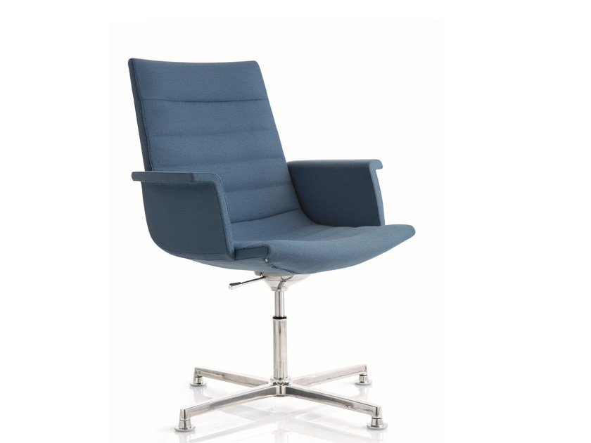 Fabric task chair with 4-Spoke base with armrests KEY | Task chair with 4-Spoke base by Emmegi