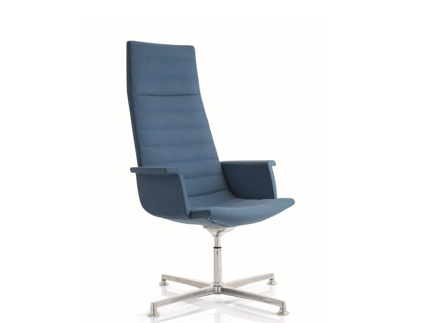 Swivel fabric task chair with 4-Spoke base KEY | Swivel task chair by Emmegi
