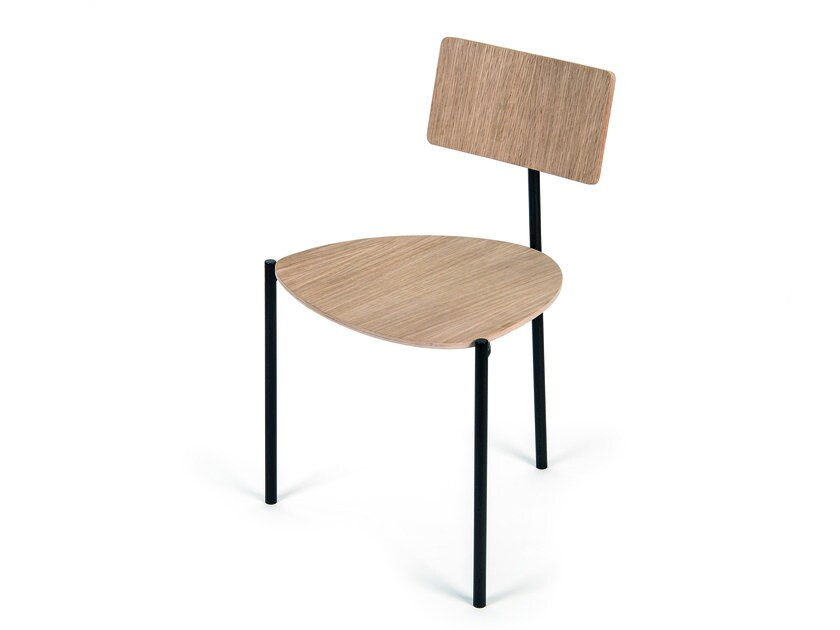 Steel and wood chair EXISTENTIALISTE | Chair by extranorm