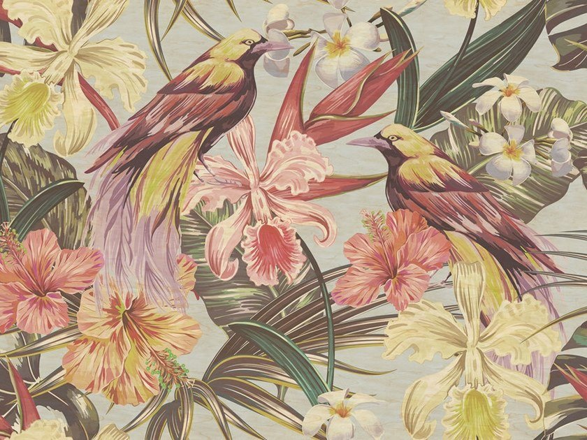 Digital printing wallpaper EXOTIC BIRDS by Architects Paper