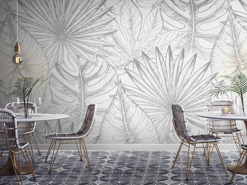 Digital printing Tropical wallpaper EXOTIC DRAW by LGD01