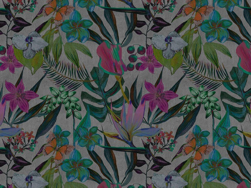 Digital printing wallpaper with floral pattern EXOTIC NIGHT by Architects Paper