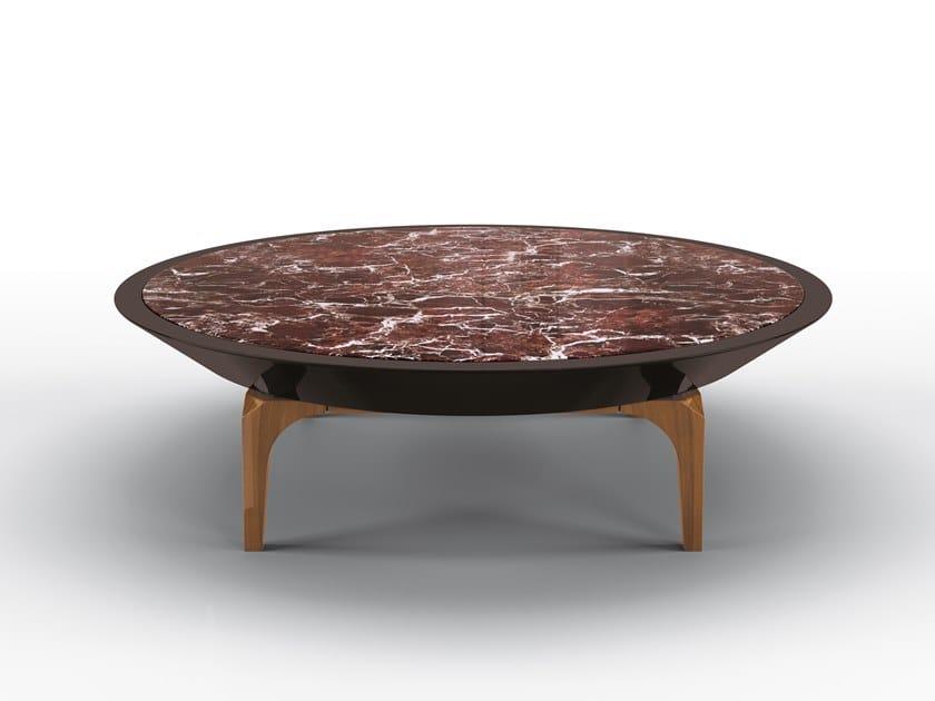 Mesa de centro redonda de mármore Rojo Levanto EXPERIA by BRUNO ZAMPA