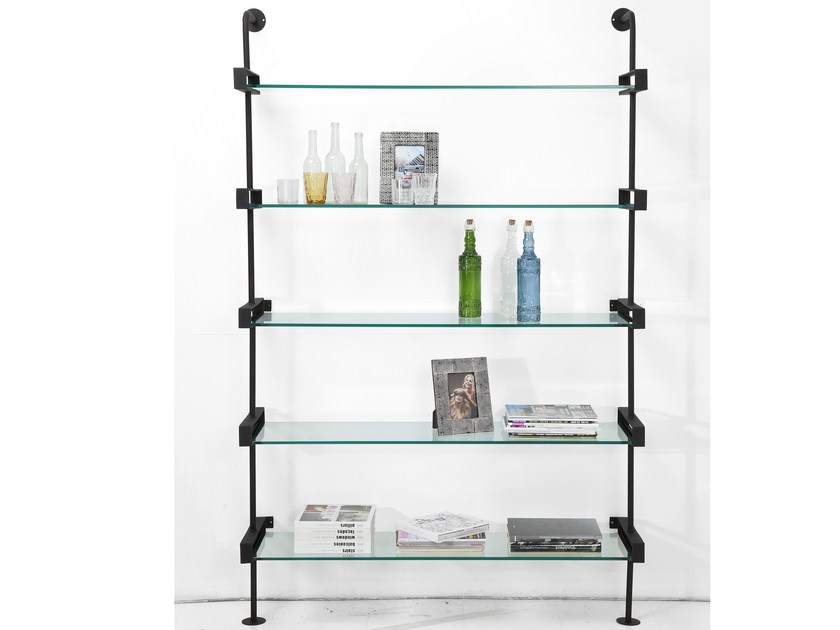 Wall-mounted iron bookcase EXPOSITION by KARE-DESIGN