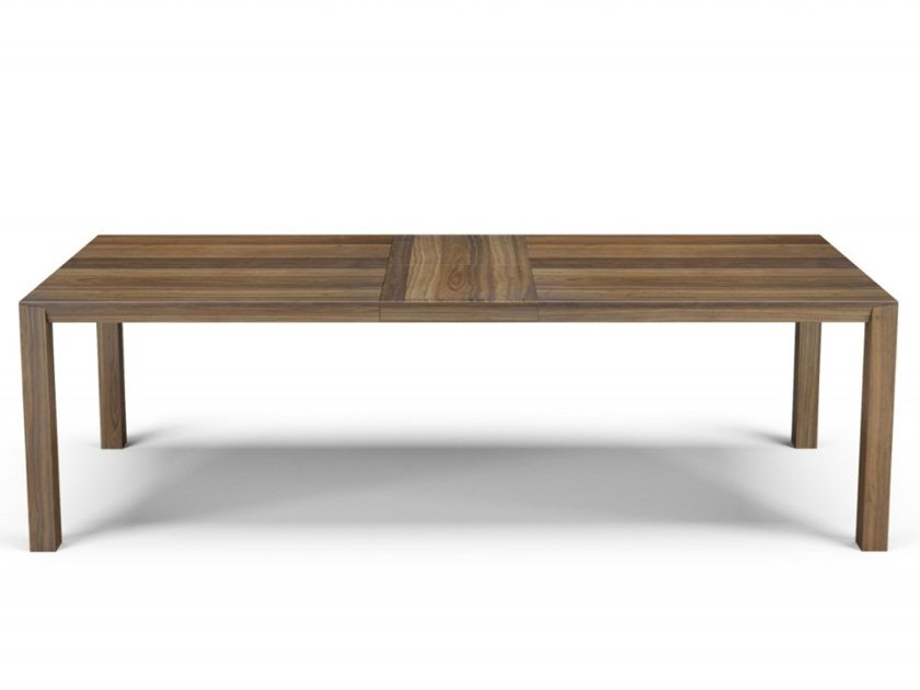 Extending rectangular walnut dining table FLY | Extending table by Huppé