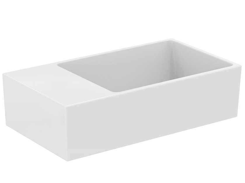 Rectangular ceramic handrinse basin EXTRA - T391901 by Ideal Standard