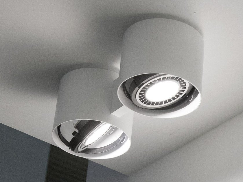 Direct light halogen ceiling lamp EYE by Martinelli Luce