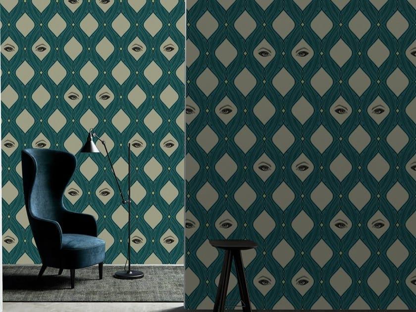 Motif fire retardant vinyl wallpaper EYES by Baboon
