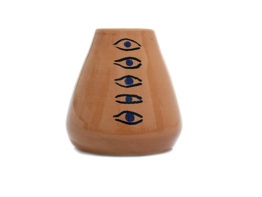 Ceramic vase EYES III by Kiasmo