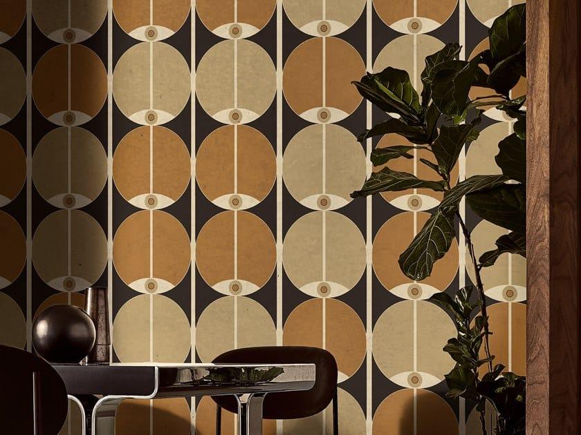 Optical wallpaper EYES IN TUBES by Wall&decò