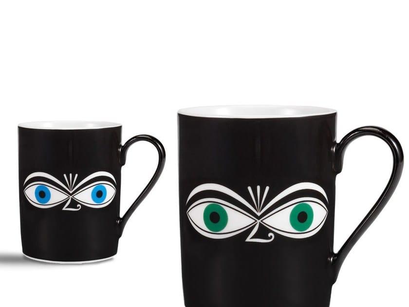 Porcelain espresso cup EYES MUG by Vitra