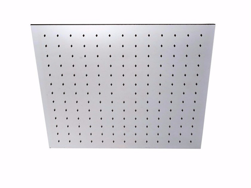 Ceiling mounted built-in stainless steel rain shower PABLOLUX - F1725 by Rubinetteria Giulini