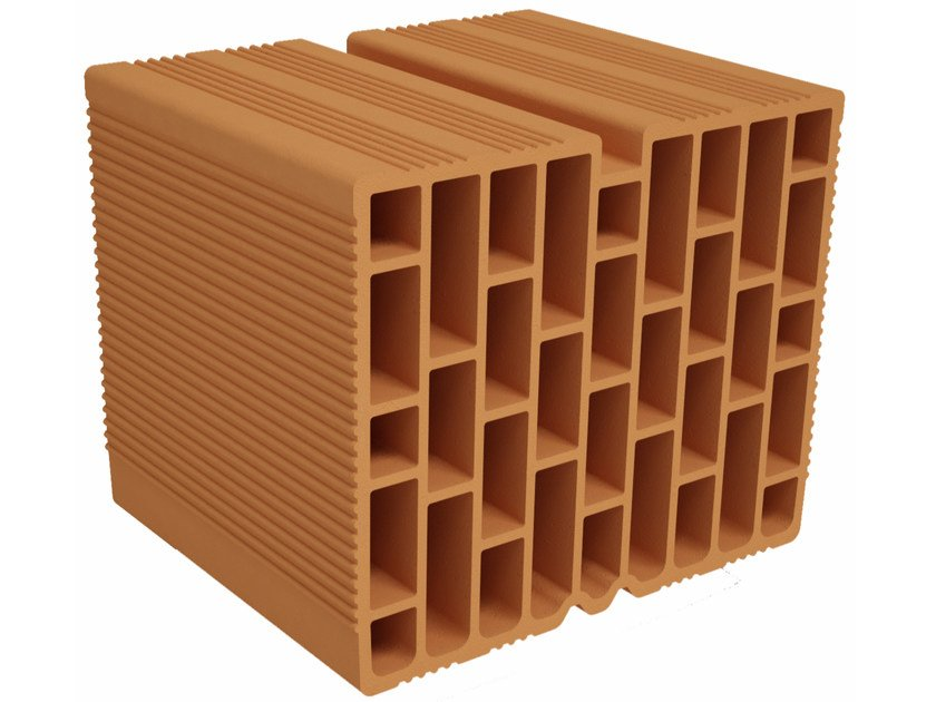 Clay block for internal partition F300 | Clay block for internal partition by Fornaci Ioniche