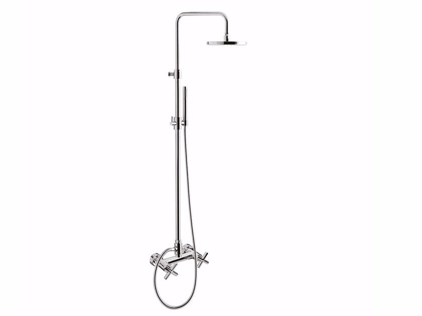 Wall-mounted shower panel with hand shower G3 - F7607WC-S by Rubinetteria Giulini