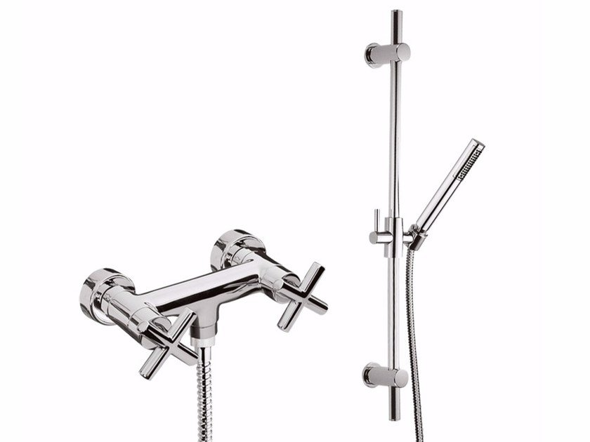 Shower tap with hand shower G3 - F7607WS by Rubinetteria Giulini