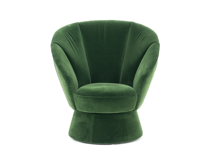 swivel velvet armchair with armrests ds 163 velvet armchair