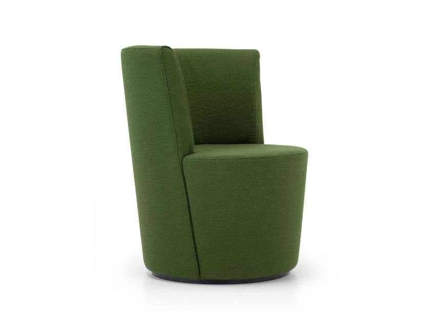 Upholstered fabric guest chair RONDA   Armchair by Domingo Salotti
