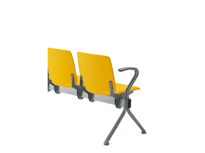 Fabric beam seating with armrests Q-44 FIX   Fabric beam seating by Sesta
