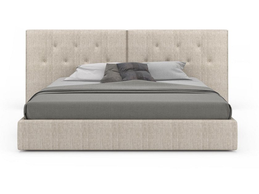 Fabric bed double bed with tufted headboard ENCORE | Fabric bed by Huppé