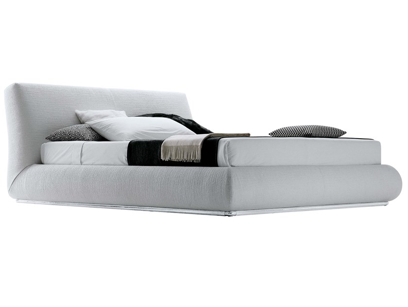 Fabric bed with removable cover with upholstered headboard BALDO   Fabric bed by JESSE