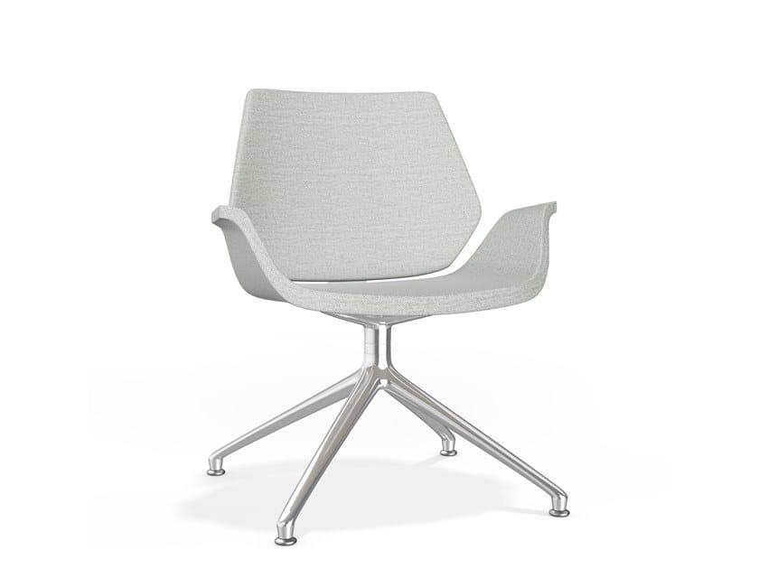 Drehbarer gepolsterter Stuhl aus Stoff auf fixem Fußgestell CENTURO IV LOUNGE | Stuhl aus Stoff by Casala