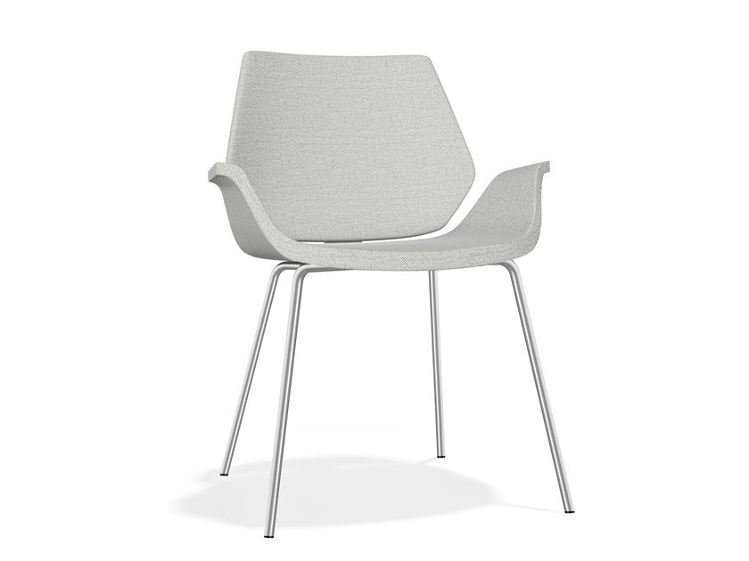 Upholstered fabric chair with armrests CENTURO III | Fabric chair by Casala
