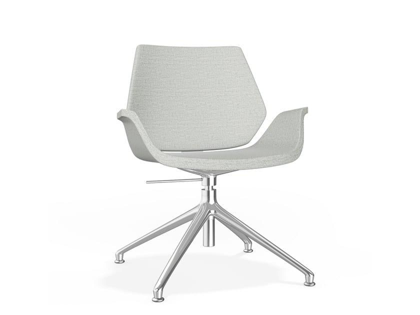 Gepolsterter höhenverstellbarer Stuhl aus Stoff CENTURO IV | Stuhl aus Stoff by Casala