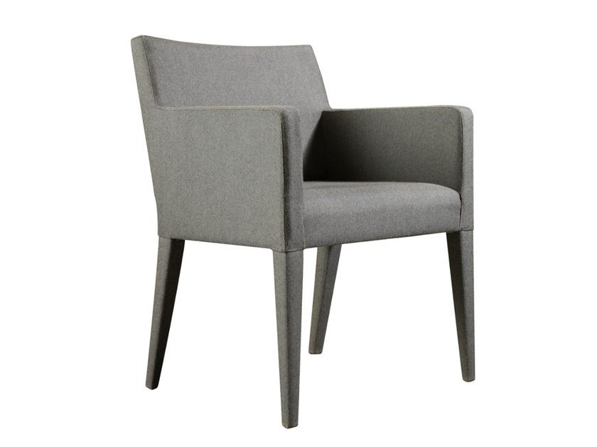 Fabric chair with armrests OSLO | Fabric chair by Conceito Casa
