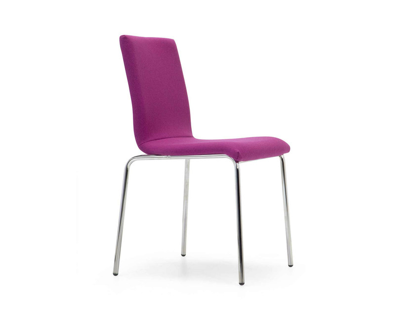 Upholstered stackable fabric chair SYN SOFT   Fabric chair by Domingo Salotti