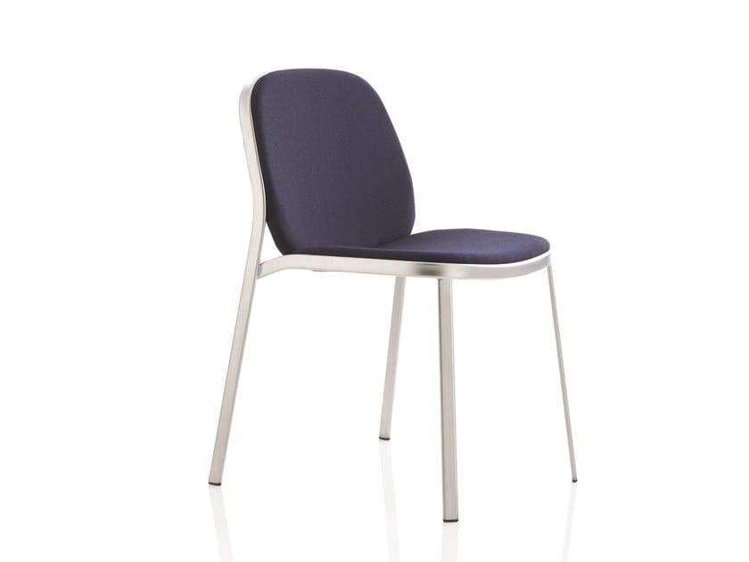 Sedia in tessuto per sale d'attesa FLAP | Sedia in tessuto by Emmegi