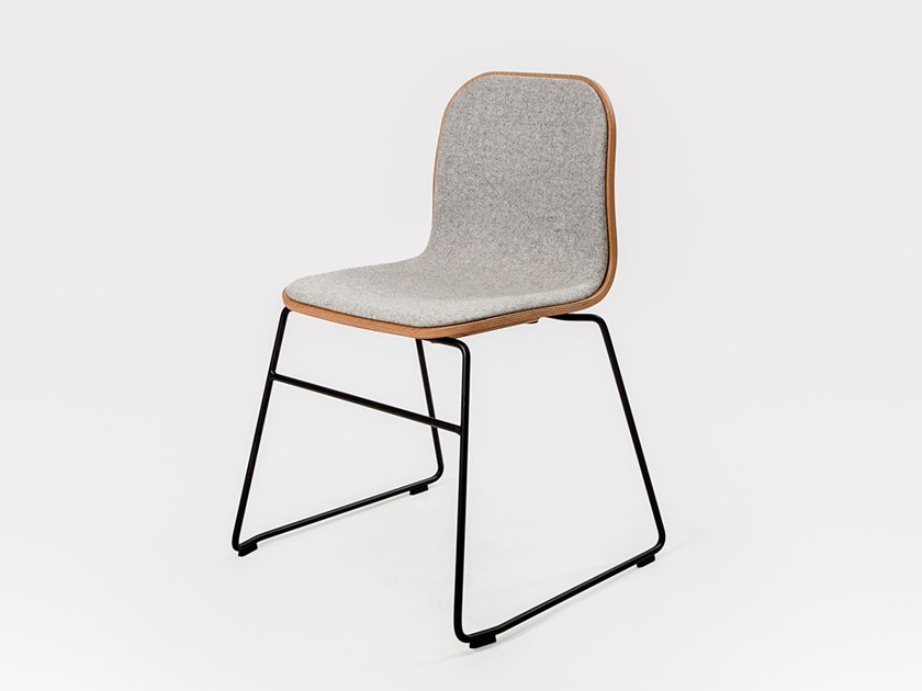 Sled base stackable fabric chair JANE | Fabric chair by Liqui Contracts