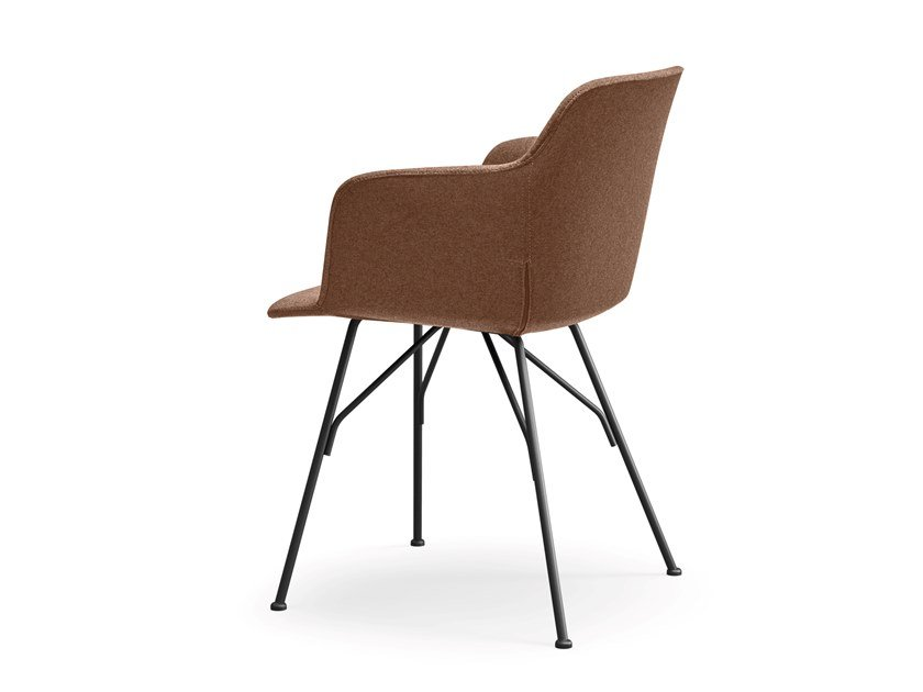 Fabric chair with armrests DEEP COVER | Fabric chair by Quinti Sedute