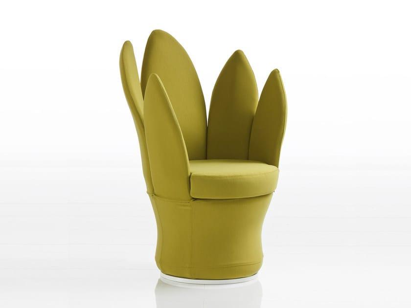 Fabric easy chair LEMON-BLOSSOM | Fabric easy chair by brühl
