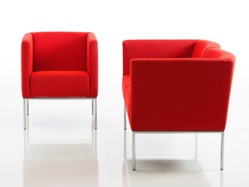 Modular fabric easy chair ADD1 | Fabric easy chair by brühl