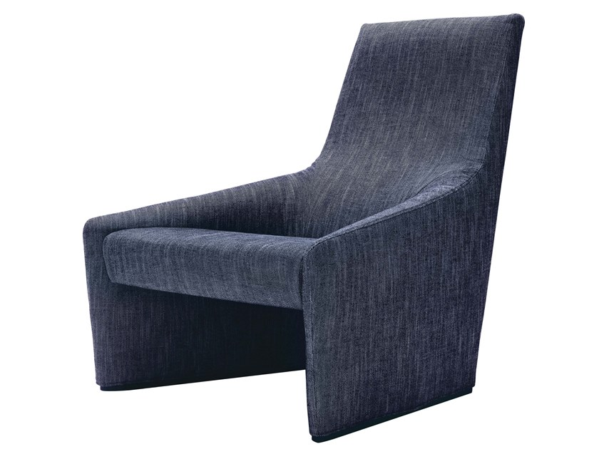 Upholstered fabric easy chair high-back HAIKU | Easy chair high-back by JESSE