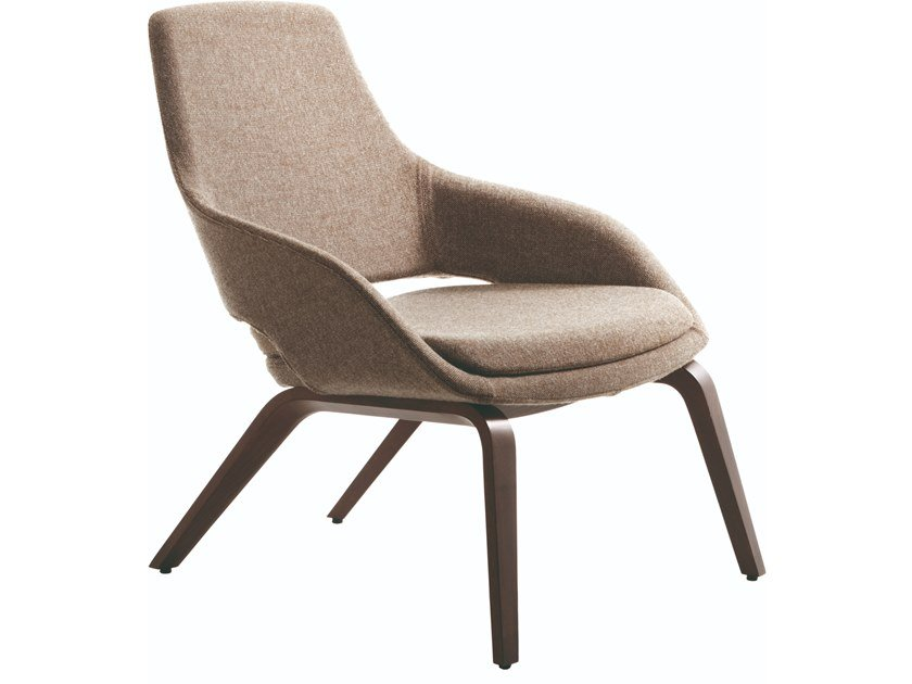 Fabric easy chair with armrests CAPTAIN LOUNGE | Fabric easy chair by JESSE