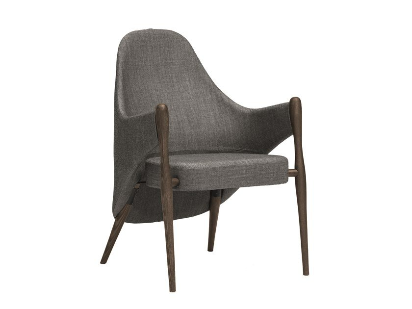 Fabric easy chair with armrests LIV | CONTRACT | Fabric easy chair by PIAVAL